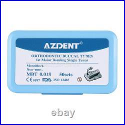 10 BOX Dental 1st Molar Bondable Monoblock Non-Conv Single MBT 0.018 Buccal Tube