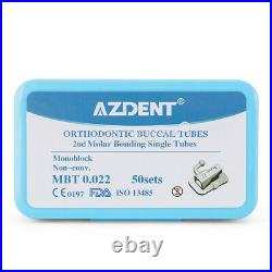 10 BOX Dental 2st Molar Bondable Monoblock Non-Conv Single MBT 0.022 Buccal Tube