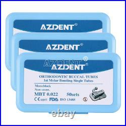 10 Boxes AZDENT 1st Molar Bondable Monoblock Non-Convert MBT. 022 Buccal Tube