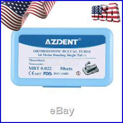 10 Dental 1st Molar Monoblock Buccal Tube MBT. 022 Bondable Non-Conve AZDENT