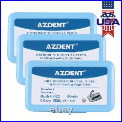 10 X Dental Ortho Buccal Tubes Non-Conv 1st Molar Bondable Monoblock Roth 0.022