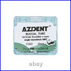 1020Sets Dental Orthodontics Buccal Tube Monoblock 1st Molar Non-Conv MBT. 022