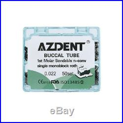 10Box Dental Bondable 1st Molar Roth 0.022 Monoblock Buccal Tube Non-convertible