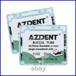 10Kit Dental Bondable Monoblock Buccal Tubes 1st Molar Roth. 022 Non-convertible