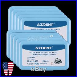 10Pack AZDENT Buccal Tube 1st Molar Bondable Monoblock Non-Con Single Roth 0.022
