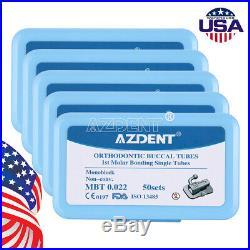 10X AZDENT Non-Conver Dental 1st Molar Bondable Monoblock MBT. 022 Buccal Tube