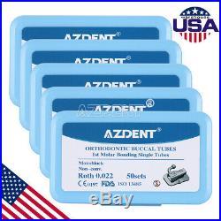 10X AZDENT Orthodontic Buccal Tube Roth 0.022 1st Molar Monoblock Non-Con Single