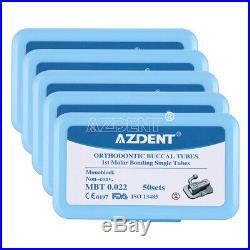 10X Dental 1st Molar Bondable Monoblock Non-Conv Single MBT 022 Buccal Tube AZ