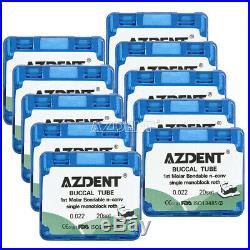 10X Dental Bondable 1st Molar Roth 0.022 Buccal Tubes Monoblock 200sets AZDENT