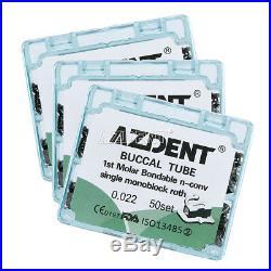 10X Dental Orthodonic Monoblock Bondable Buccal Tube Non-Convertible Roth 0.022