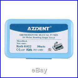 10X Dental Orthodontic Bondable 1st Molar Buccal Tube Non-Conv Roth022 Monoblock