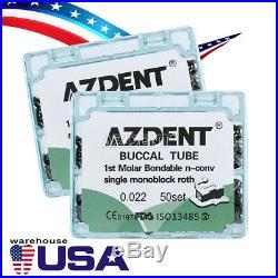 10X Dental Orthodontic Buccal Tube Monoblock 1st Molar Roth. 022 Single Non-Conv