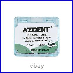 10X Dental Orthodontics Monoblock Non-Conv Buccal Tubes 1st Molar MBT. 022 AZDENT