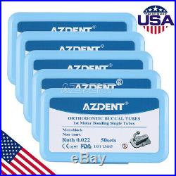 10pcs Dental 1st Molar Bondable Monoblock Non-Conv Single Roth 022 Buccal Tube