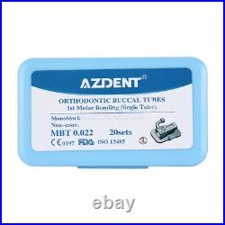 10x Dental Ortho 1st Molar MBT. 022 Buccal Tube Bondable Monoblock Non-Con Single