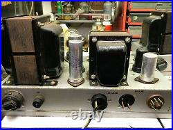 (2) 6L6GC Monoblock Tube Amps Conn Organ with Schematics for parts or rebuild