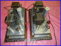 2 Marconi Tube Amplifier Mono Blocks 6bq5 Pp