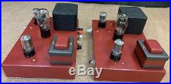 2 Single-ended vintage 45 mono block tube amplifiers Tamura output transformers