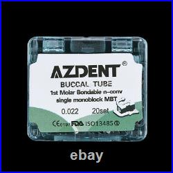 200Sets Dental Orthodontics 1st Molar Non-Conv Buccal Tubes Monoblock MBT. 022