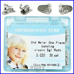 200pcs Dental Orthodontic Buccal Tubes Monoblock MBT ROTH 022 1st 2nd Molar