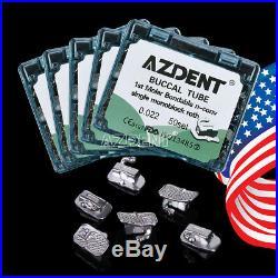 200pcs/Pack Monoblock Orthodontic Buccal Tube Roth 022 1st Molar Non-Conv AZDENT