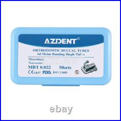 200pcs/kit Dental Ortho Monoblock Buccal Tubes 1st Molar Bondable MBT. 022 N-Conv