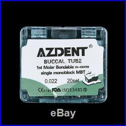 20Box Dental Bonding Buccal Tube Monoblock Orthodontic MBT 0.022 For 1st Molar