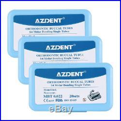 20X Dental 1st Molar Buccal Tube MBT 022 Bondable Monoblock Non-Convertible