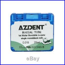 20X Dental Orthodonic Monoblock 1st Molar Buccal Tube Non-Convertible Roth 0.018