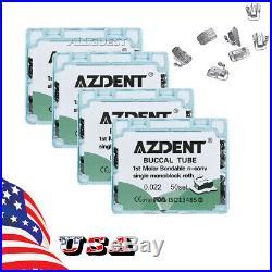 4X Dental Ortho Non-Conv Buccal Tube 1st Molar Bondable Roth 022 Monoblock