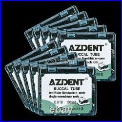 5 Pack Ortho Dental Monoblock Roth 0.018 1st Molar Buccal Tube Bondable Non-Conv