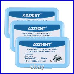 5 X Dental Ortho Bondable Buccal Tubes 1st Molar ROTH 0.022 MIM Monoblock AZDENT
