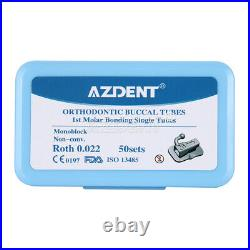 550 Sets Dental Ortho 1st Molar Roth. 022 Buccal Tube Monoblock Bondable N-Conv