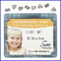 5BOX Dental Buccal Tube 1st Molar Bondable Non-Convertible MBT 022 Monoblock alr
