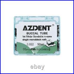 5Box Dental Orthodontic Buccal Tube Monoblock 1st Molar Roth. 022 Bondable