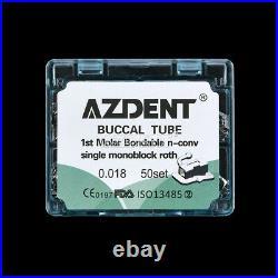 5X Dental Ortho Bondable Buccal Tube Single 1st Molar Non-con Roth. 018 Monoblock