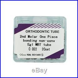 800pcs Dental Second Molar Buccal Tubes Orthodontic Monoblock One Piece MBT 022