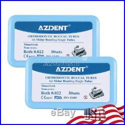 AZDENT Monoblock Dental Orth 1st Molar Sig Non-Conv Roth022 Buccal Tube Bondable