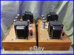 Ampex 6973 Monoblock Tube Amplifiers Triad Transformers