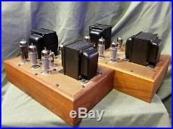 Ampex 6973 Monoblock Tube Amplifiers Triad Transformers