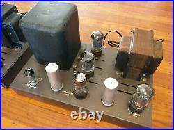 BARGAIN Pair EICO HF-22 Tube MONO BLOCK Power Amplifiers, Vintage Tubes