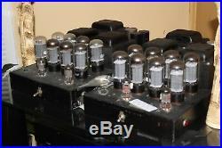 BOGEN MO-200A Tube Monoblock Amp Pair 200 Watts Each! RECAPPED 8417 TUBES