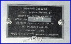 Baldwin PC Tone Chamber System S Tube Monoblock Amplifier