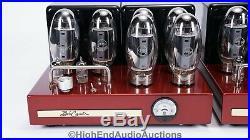 Bob Carver Crimson 350 Vacuum Tube Monoblock Power Amplifiers KT-150 350 Watts
