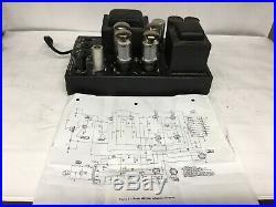 Bogen MO-100a mono block tube power amplifier Works Nice