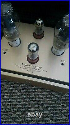 Canary Audio M330 300B vacuum tube monoblock amplifiers, slightly used