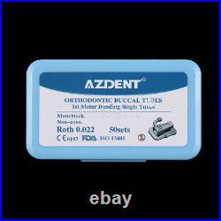 Dental Orthodontic Bondable Monoblock Non-Conv 1st Molar Roth 0.022 Buccal Tube