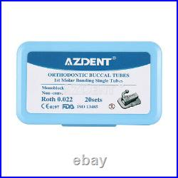 Dental Orthodontic Buccal Tubes Roth/ MBT 0.022 MIM Bondable Monoblock Non-Conv