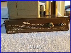 Eico HF 60 Mono Block EL84 Vacuum Tube Amplifier TO-330 Aerosound Transformer