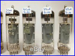 Eigh 2 quad EL84 matched near NOS tubes various brands, for Manley 35 mono block